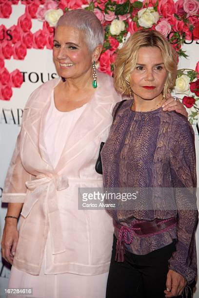 """Rosa Oriol and Eugenia Mart'nez de Irujo attend the presentation of the new fragance """"Rosa"""" at the Ritz Hotel on April 23, 2013 in Madrid, Spain."""