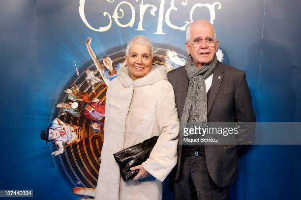 """Rosa Oriol and Salvador Tous attend the """"Cirque du Soleil: Corteo"""" premiere on January 20, 2012 in Barcelona, Spain."""