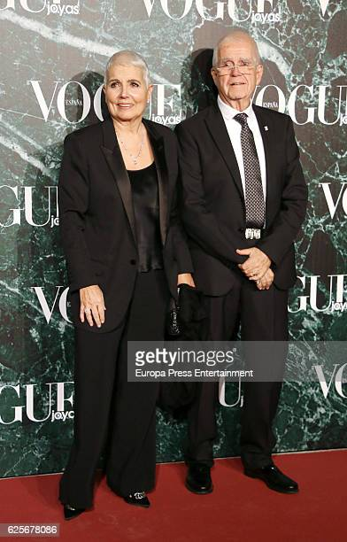 Rosa Oriol and Salvador Tous attend 'Vogue joyas' awards at Santona Palace on November 24, 2016 in Madrid, Spain.