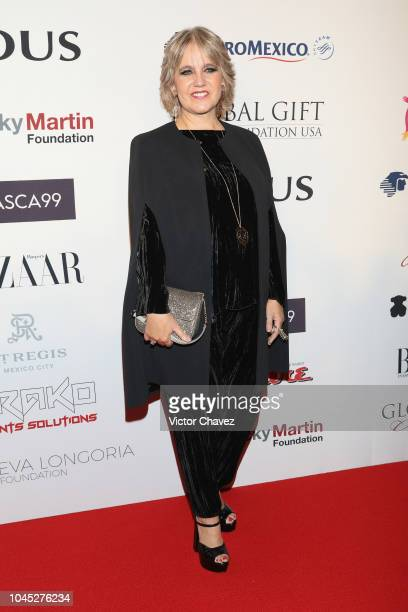 Rosa Oriol de Tous attends the Global Gift Gala red carpet at St Regis hotel on October 3, 2018 in Mexico City, Mexico.