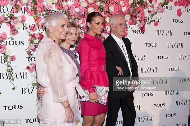 Rosa Oriol, Eugenia Martinez de Irujo, Paula Echevarria and Salvador Tous attend the presentation of the new fragrance 'Rosa' at Ritz Hotel on April...