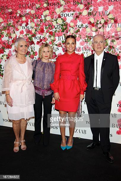 """Rosa Oriol, Eugenia Mart'nez de Irujo, Paula Echevarria and Salvador Tous attend the presentation of the new fragance """"Rosa"""" at the Ritz Hotel on..."""