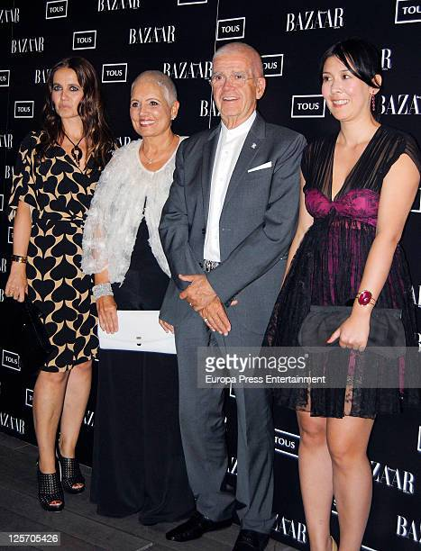 Rosa Oriol Tous and Salvador Tous attend handbag 'Rose' by Tous presentation at Ada Palace hotel on September 20, 2011 in Madrid, Spain.