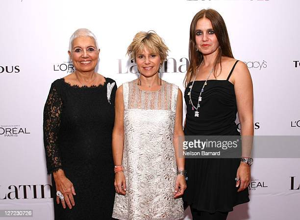 Rosa Oriol Tous, Eugenia Martinez de Irujo and Rosa Tous attend Latina Magazine's 15th anniversary celebration at Espace on September 26, 2011 in New...