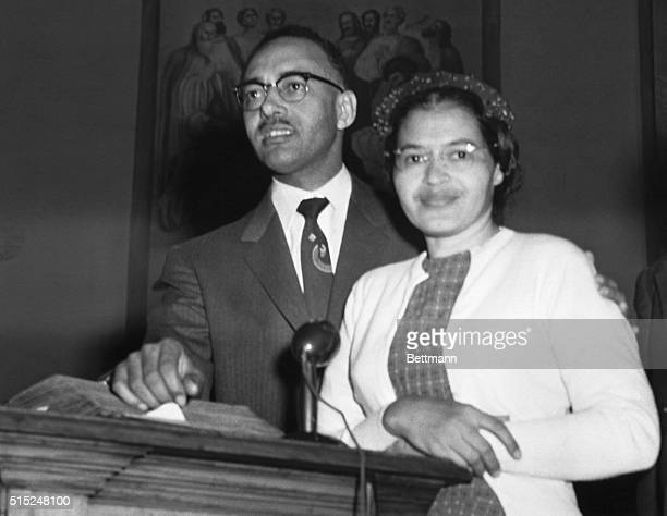 Rosa Parks civil rights leader who started the Alabama Bus Boycott with Reverend Thomas Kilgore Jr