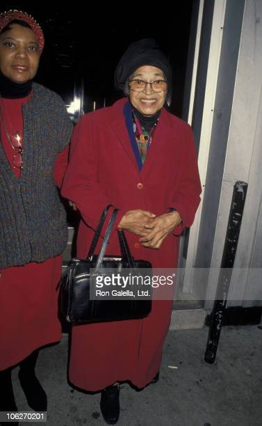 """Rosa Parks during Rosa Parks After Taping of """"Larry King Live"""" - February 7, 1995 at CNN Studio in Hollywood, California, United States."""