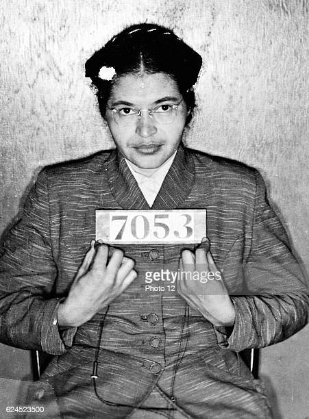 Rosa Parks Mug Shot 1955 Arrested for refusing to relinquish her seat on a bus in Montgomery Alabama