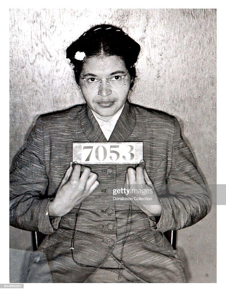 Rosa Parks Mugshot : News Photo