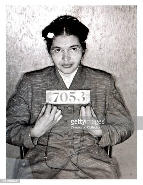 Rosa Parks mugshot in 1955
