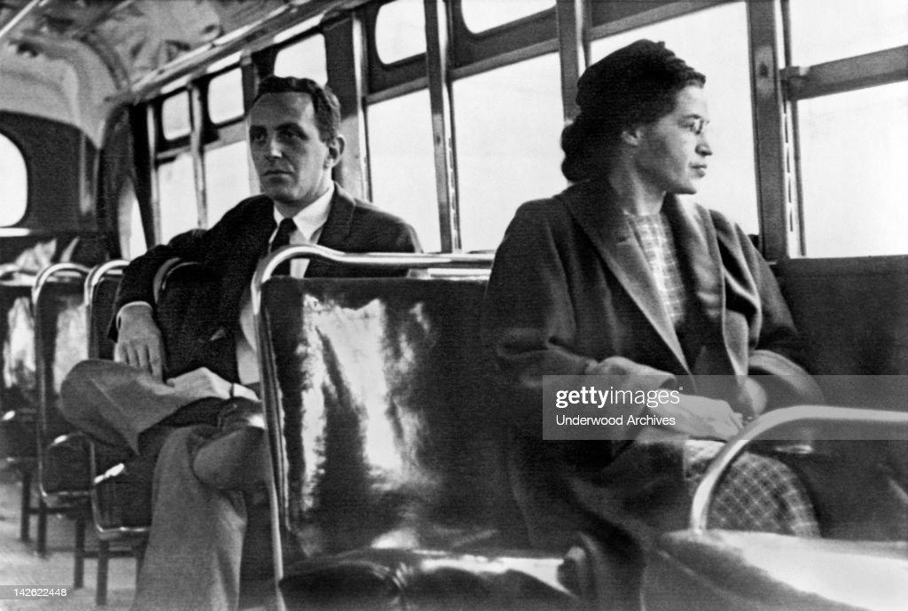 Rosa Parks On Bus : News Photo