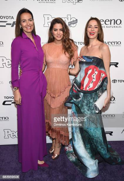 Rosa Parsons Lorenza Izzo and Carolina Parsons arrives at People en Espanol's 50 Most Beautiful Gala 2017 at Espace on May 16 2017 in New York City
