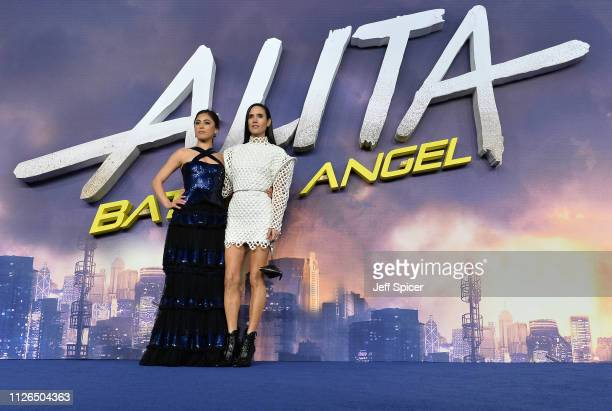 Rosa Salazar and Jennifer Connelly attend the World Premiere of Alita Battle Angel held at Odeon Leicester Square on January 31 2019 in London England