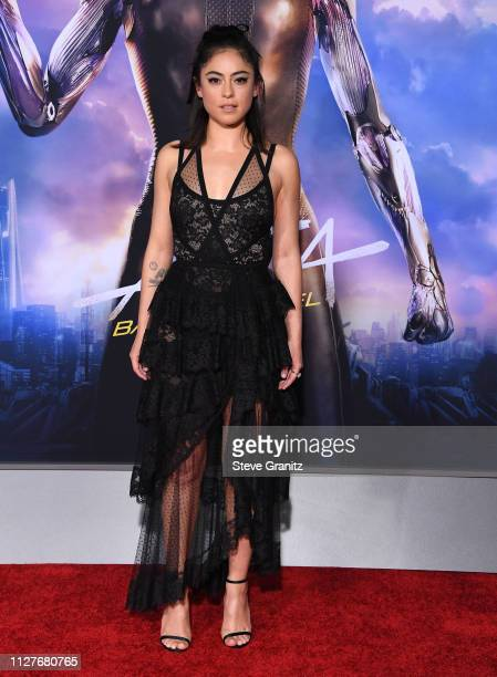Rosa Salazar arrives at the Premiere Of 20th Century Fox's Alita Battle Angel at Westwood Regency Theater on February 05 2019 in Los Angeles...