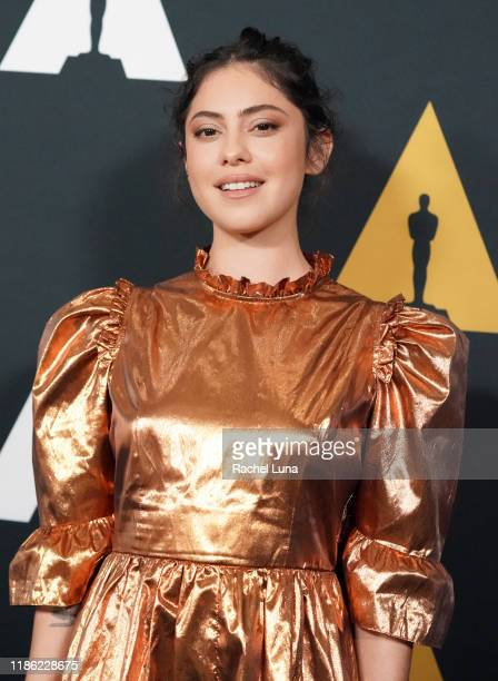 Rosa Salazar attends the Academy Nicholl Fellowships Screenwriting Awards at AMPAS Samuel Goldwyn Theater on November 07 2019 in Beverly Hills...