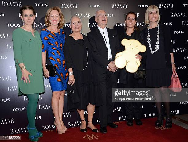 Rosa Tous, Ana Rodriguez, Rosa Oriol and Salvador Tous attend Tous collection presentation at Casino Madrid on May 10, 2012 in Madrid, Spain.