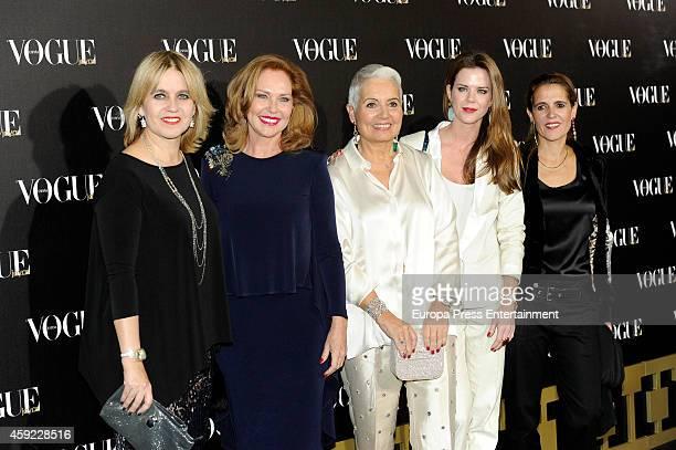 Rosa Tous, Ana Rodriguez, Rosa Oriol Tous, Amelia Bono and Marta Tous attend Vogue Joyas 2014 Awards on November 18, 2014 in Madrid, Spain.