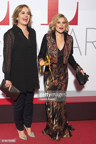 Rosa Tous and Eugenia Martinez de Irujo attend ELLE Magazine 30th anniversary party at Circulo de Bellas Artes Club on October 26, 2016 in Madrid,...