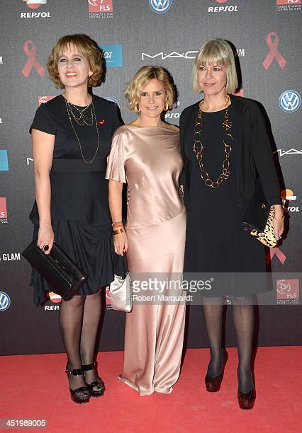 Rosa Tous and Eugenia Martinez de Irujo pose during a photocall for the '4th Annual Gala Sida Barcelona 2013' held at the El Museo Nacional de Arte...
