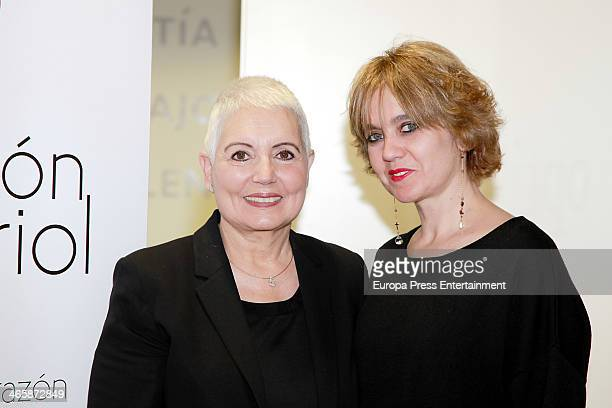 Rosa Tous and Rosa Oriol and pose for the photographers before the signing of cooperation between the Rosa Oriol Foundation and Valor Brands on...