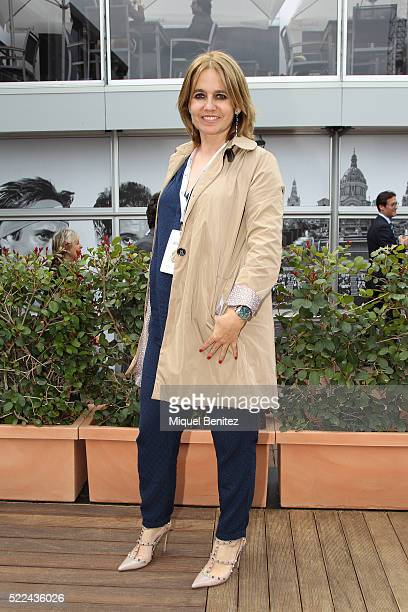 Rosa Tous attends the Barcelona Open Banc Sabadell, 64th Conde de Godo Trophy at Real Club de Tenis Barcelona on April 19, 2016 in Barcelona, Spain.