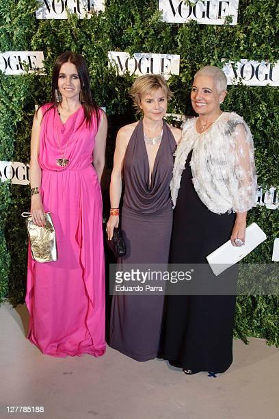 Rosa Tous, Cayetana Martinez de Irujo and Rosa Oriol Tous attend the Vogue Joyas Awards at Madrid stock market on June 16, 2011 in Madrid, Spain.