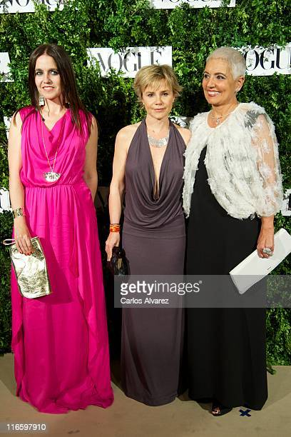 Rosa Tous, Cayetana Martinez de Irujo and Rosa Oriol Tous attend Vogue Joyas awards 2011 at Madrid stock market on June 16, 2011 in Madrid, Spain.