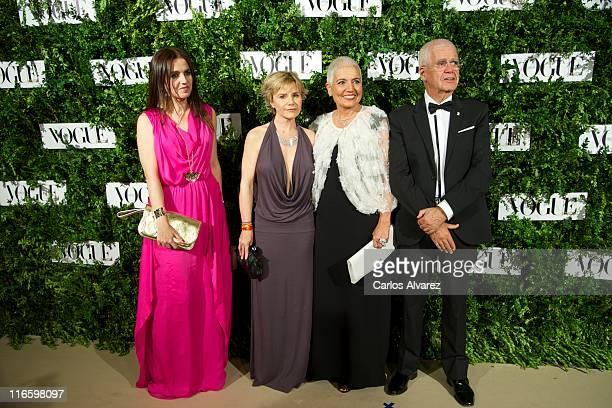 Rosa Tous, Cayetana Martinez de Irujo, Rosa Oriol Tous and Salvador Tous attend Vogue Joyas awards 2011 at Madrid stock market on June 16, 2011 in...