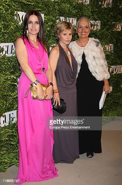 Rosa Tous, Eugenia Martinez de Irujo and Rosa Oriol Tous attend Vogue Joyas Awards 2011 at Madrid Stock Market on June 16, 2011 in Madrid, Spain.