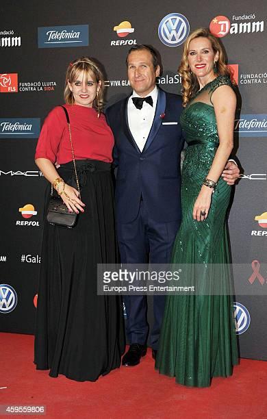 Rosa Tous Juan Manuel Alcaraz and Alejandra Prat attend 'Fifth Gala Against HIV 2014' on November 24 2014 in Barcelona Spain