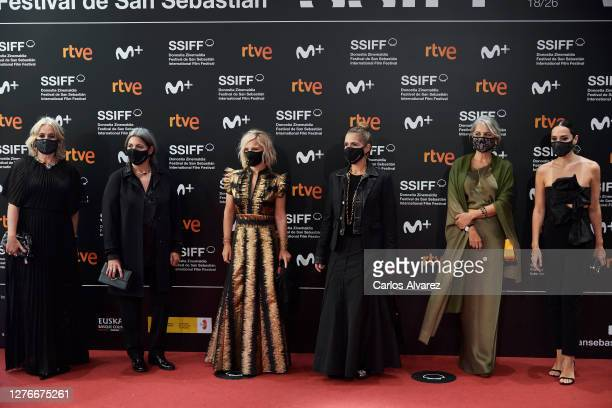 Rosa Tous Laura Tous Eugenia Martinez de Irujo Marta Tous Alba Tous and Tamara Falco attend 'Oso' premiere during the 68th San Sebastian...