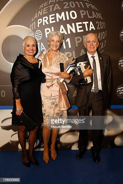 Rosa Tous, Lluisssa Sallent and Oriol Tous attend the 60th Planeta Awards on October 15, 2011 in Barcelona, Spain.