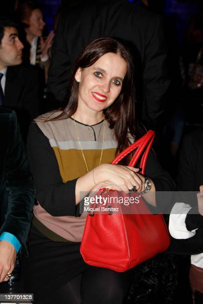Rosa Tous Oriol attend the front row at the runway in the TCN fashion show during the 080 BCN Fashion Week Fall/Winter 2012-2013 on January 25, 2012...