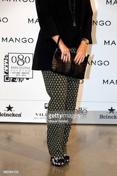 Rosa Tous Oriol attends the photocall at the Mango fashion show as part of the 080 Barcelona Fashion Week Autumn/Winter 2013-2014 on January 28, 2013...