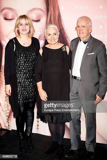 Rosa Tous, Rosa Oriol and Salvador Tous attend the 'Tender Stories' campaign presentation photocall at TOUS flagship store on November 25, 2014 in...