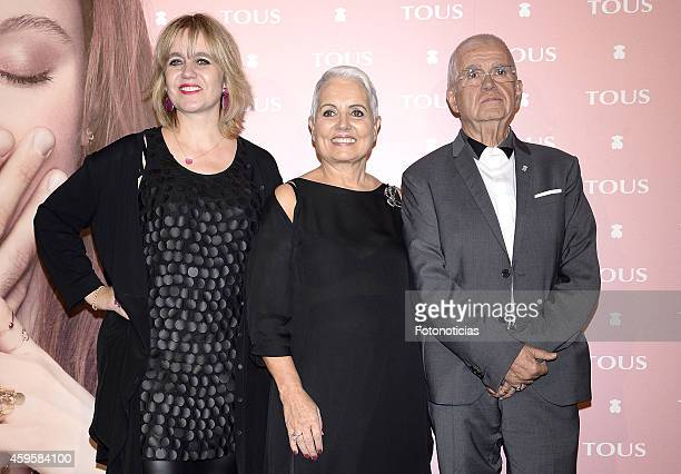 Rosa Tous, Rosa Oriol and Salvador Tous attend the TOUS fashion clip 'Tender Stories' special screening at TOUS flagship store on November 25, 2014...