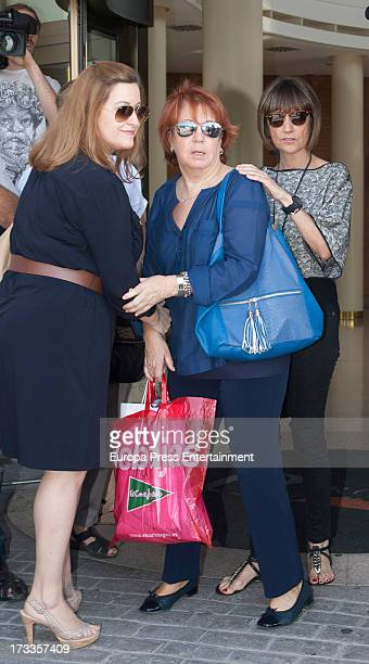 Rosa Villacastin and Ana Garcia Lozano attend the funeral chapel for the journalist Concha Garcia Campoy at La Paz Morgue on July 12 2013 in Madrid...
