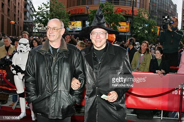 Rosa Von Praunheim And friend Mike In The Germany premiere of Star Wars Episode Iii Revenge of the Sith In the theater at Potsdamer Platz in Berlin
