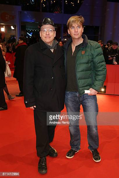 Rosa von Praunheim and Oliver Sechting attend the closing ceremony of the 66th Berlinale International Film Festival on February 20 2016 in Berlin...