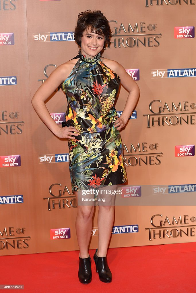 Rosabell Laurenti Sellers arrives for the world premiere of Game of Thrones Season 5 at Tower of London on March 18, 2015 in London, England.