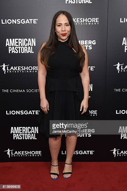 Rosal Colon attends a screening of American Pastoral hosted by Lionsgate Lakeshore Entertainment and Bloomberg Pursuits at Museum of Modern Art on...