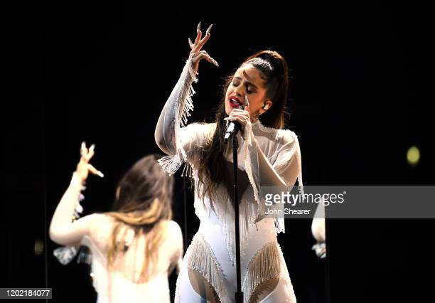 Rosalía performs at the 62nd Annual GRAMMY Awards on January 26 2020 in Los Angeles California