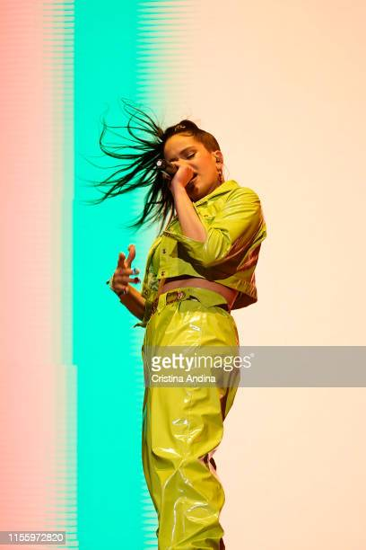 Rosalía performs during the second day of Son do Camino Festival on June 14 2019 in Santiago de Compostela Spain