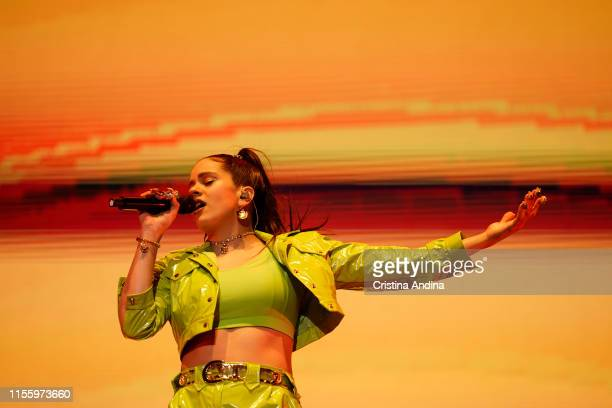 Rosalía performs during the second day of Son do Camino Festival on June 14, 2019 in Santiago de Compostela, Spain.