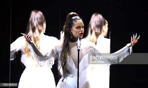 Rosalía performs onstage during the 62nd Annual GRAMMY Awards at STAPLES Center on January 26, 2020 in Los Angeles, California.