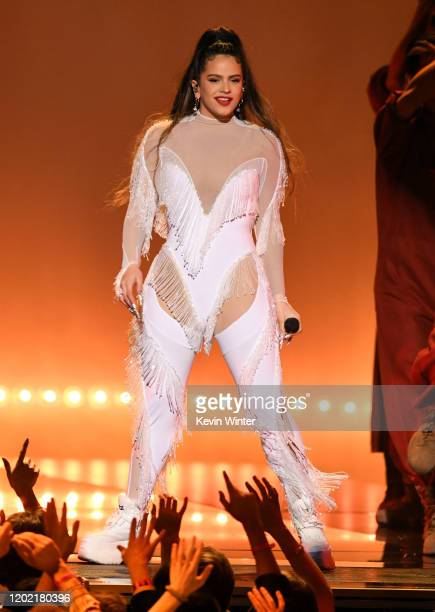 Rosalía performs onstage during the 62nd Annual GRAMMY Awards at STAPLES Center on January 26 2020 in Los Angeles California