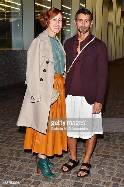 Rosalba Piccinni and Simone Marchetti attend 'Atlante Del Gesto' Dance Project at Fondazione Prada on September 17 2015 in Milan Italy