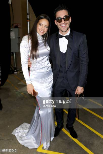 Rosalia and Miguel Angel Silvestre attends The 18th Annual Latin Grammy Awards at MGM Grand Garden Arena on November 16 2017 in Las Vegas Nevada