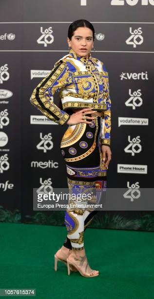 Rosalia attends 'LOS40 Music Awards' 2018 at WiZink Center on November 2 2018 in Madrid Spain
