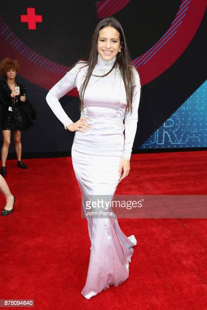 Rosalia attends The 18th Annual Latin Grammy Awards at MGM Grand Garden Arena on November 16 2017 in Las Vegas Nevada