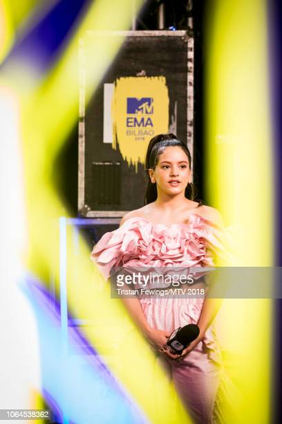 Rosalia during the MTV EMAs 2018 at Bilbao Exhibition Centre on November 04 2018 in Bilbao Spain